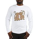 Cute Monkey Couple Long Sleeve T-Shirt