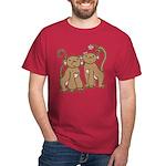 Cute Monkey Couple Dark T-Shirt