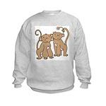 Cute Monkey Couple Kids Sweatshirt