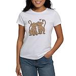Cute Monkey Couple Women's T-Shirt