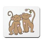 Cute Monkey Couple Mousepad