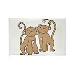 Cute Monkey Couple Rectangle Magnet
