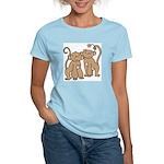 Cute Monkey Couple Women's Light T-Shirt