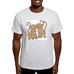 Cute Monkey Couple Light T-Shirt