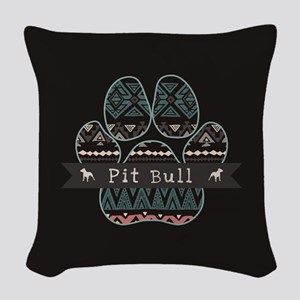 Pit Bull Woven Throw Pillow