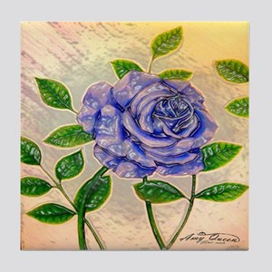 Blue Rose Tile Coaster