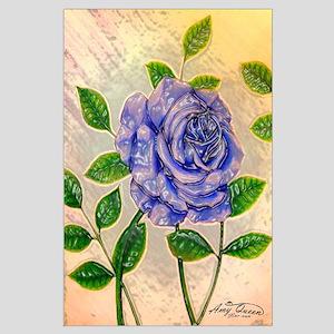 Blue Rose Large Poster
