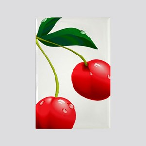 TWO CHERRIES Rectangle Magnet