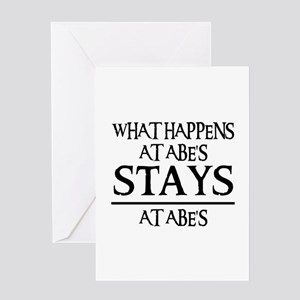 STAYS AT ABE'S Greeting Card