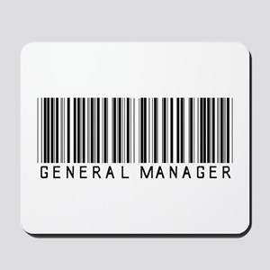 General Manager Barcode Mousepad