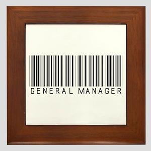 General Manager Barcode Framed Tile