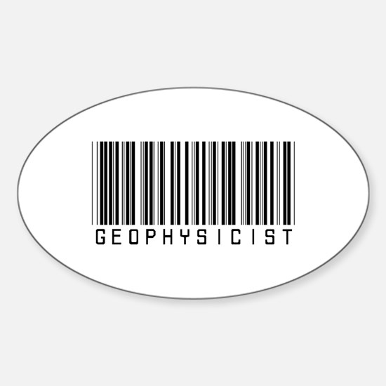 Geophysicist Barcode Oval Decal