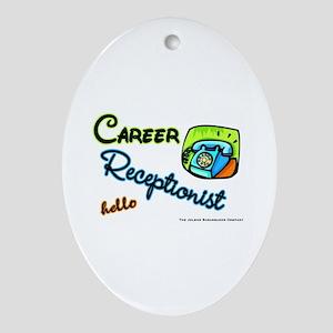 Career Receptionist Keepsake (Oval)