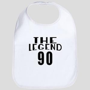 The Legend 90 Birthday Designs Cotton Baby Bib