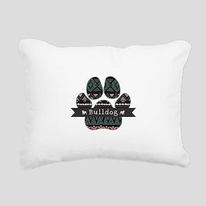 Bulldog Rectangular Canvas Pillow