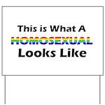 Homosexual Yard Sign