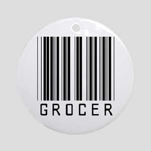 Grocer Barcode Ornament (Round)