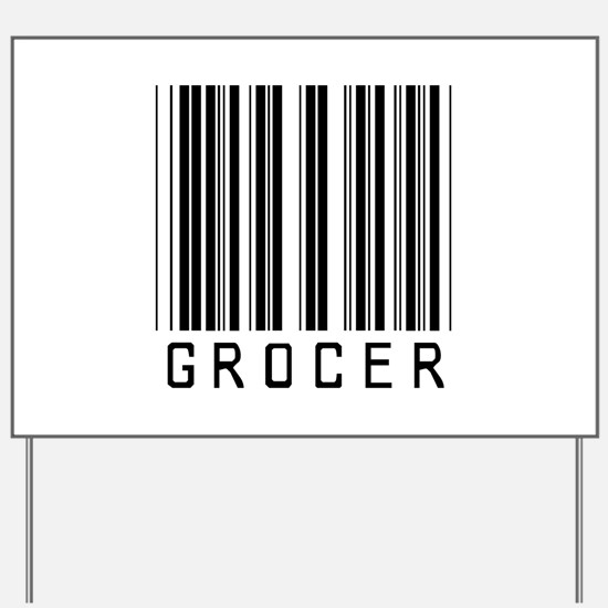 Grocer Barcode Yard Sign