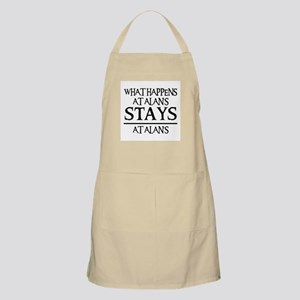 STAYS AT ALAN'S BBQ Apron