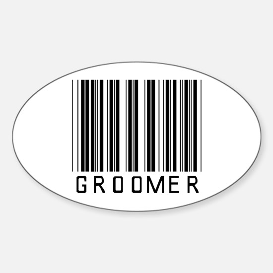 Groomer Barcode Oval Decal