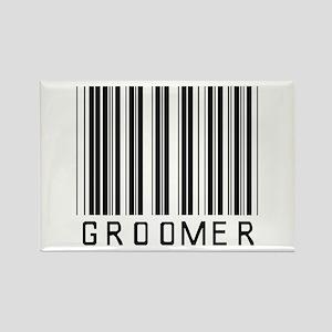 Groomer Barcode Rectangle Magnet