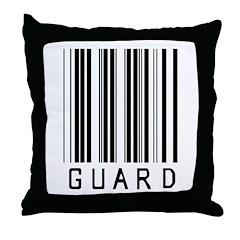 Guard Barcode Throw Pillow