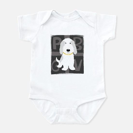 Grey & White PBGV Infant Bodysuit