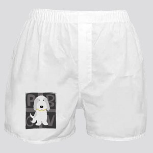 Grey & White PBGV Boxer Shorts