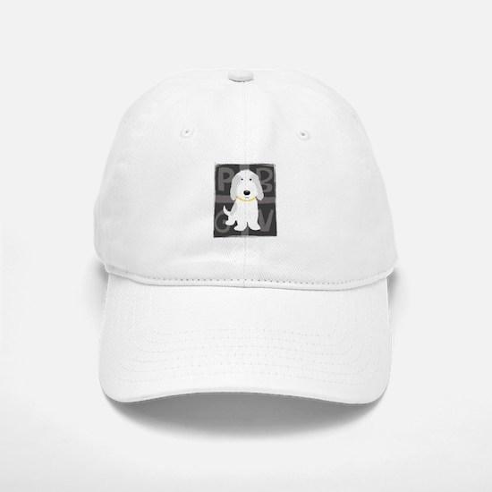 Grey & White PBGV Baseball Baseball Cap