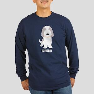 Grey & White PBGV Long Sleeve Dark T-Shirt