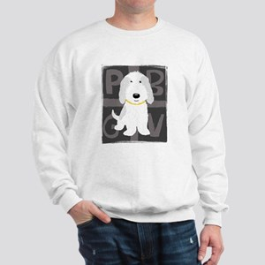 Grey & White PBGV Sweatshirt