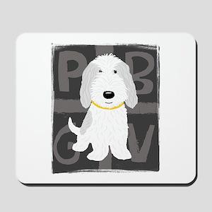 Grey & White PBGV Mousepad