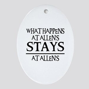 STAYS AT ALLEN'S Oval Ornament