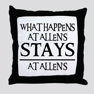 STAYS AT ALLEN'S Throw Pillow