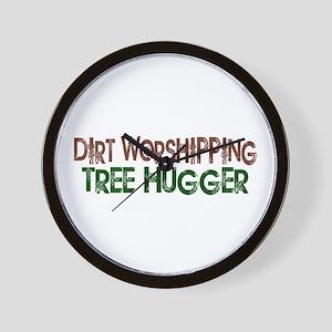 Dirt Worshipping Tree Hugger Wall Clock