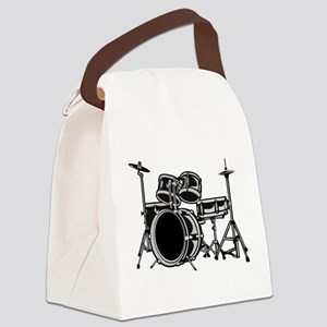 drumset Canvas Lunch Bag