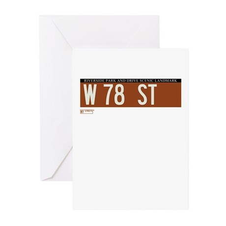 78th Street in NY Greeting Cards (Pk of 20)
