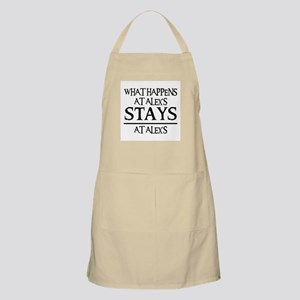STAYS AT ALEX'S BBQ Apron