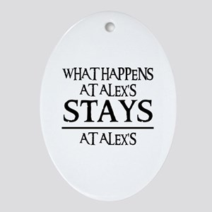 STAYS AT ALEX'S Oval Ornament