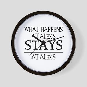 STAYS AT ALEX'S Wall Clock