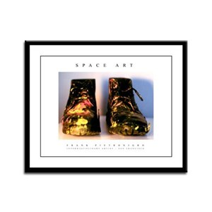Microgravity 'Worker Boots' Framed Panel Print