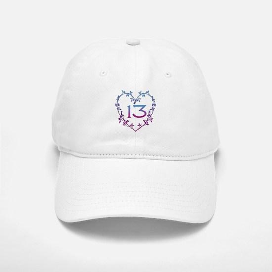 Thirteenth Birthday Baseball Baseball Cap