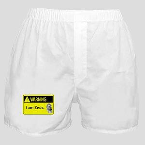 Warning: I Am Zeus Boxer Shorts