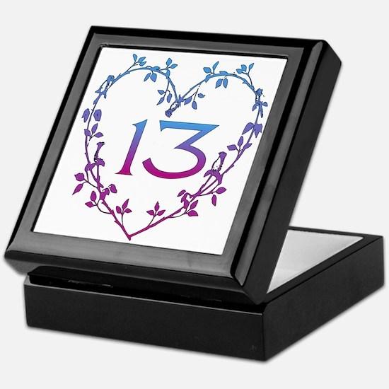 Thirteenth Birthday Keepsake Box