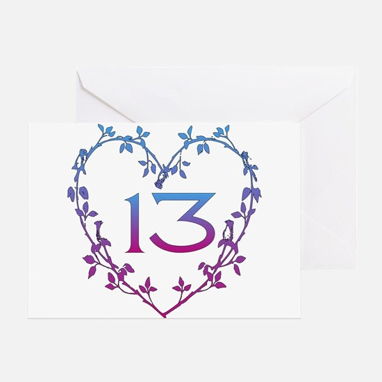 Thirteenth Birthday Greeting Card