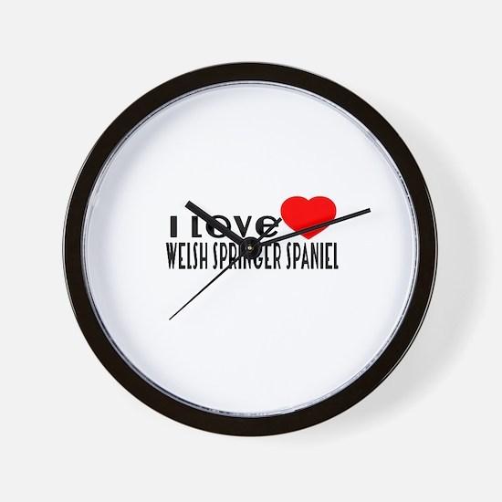 I Love Welsh Springer Spaniel Wall Clock