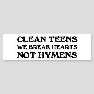 """""""Clean Teen:"""" Bumper Sticker"""