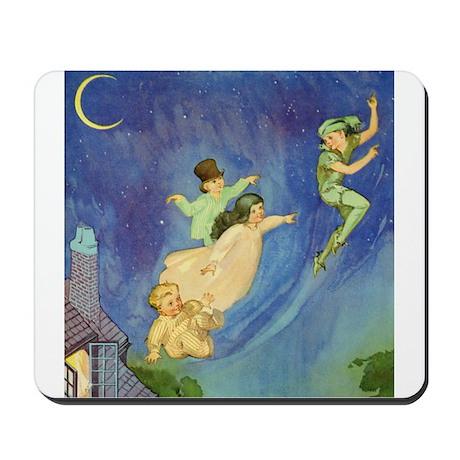 PETER PAN, JOHN & WENDY FLY Mousepad
