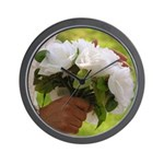 Wedding Bouquet Photo Wall Clock