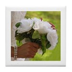 Wedding Bouquet Photo Tile Coaster